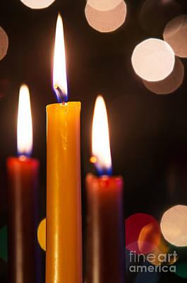 Adornment Photograph - Three Candles by Carlos Caetano