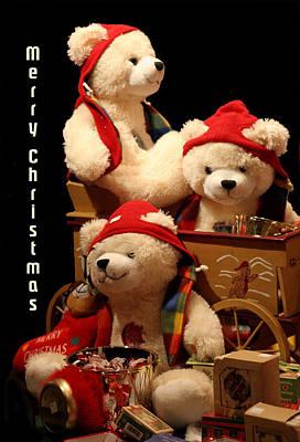 Three Christmas Bears Original by Linda Phelps