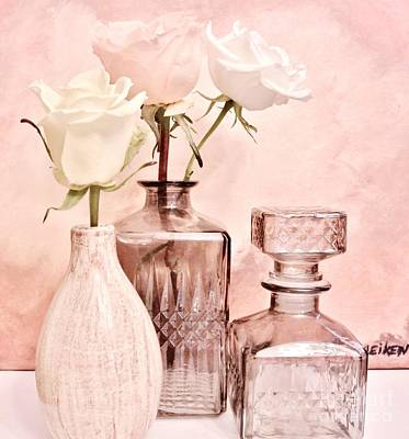 Wrap Digital Art - Three Dainty Roses by Marsha Heiken