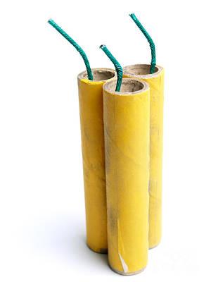 Three Firecrackers Print by Sinisa Botas
