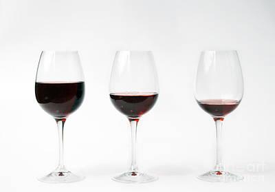 Three Glasses Of Wine  Print by Patricia Hofmeester
