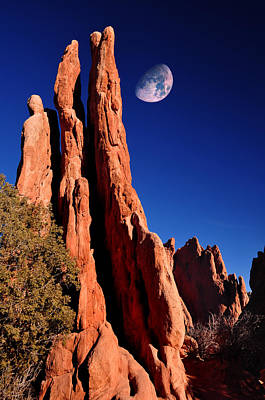 Megalith Photograph - Three Graces At Garden Of The Gods by John Hoffman