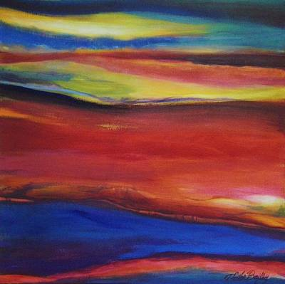 Painting - Three Horizons Sold Prints Available by Therese Fowler-Bailey