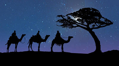 Three Kings Print by Schwartz