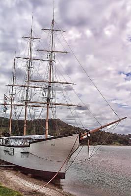 Three Mast Sail Boat Original by Linda Phelps