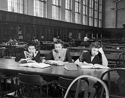 Three Moscow University Foreign Exchange Students At Columbia Un Print by Underwood Archives
