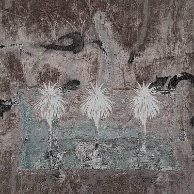 Three Palms Oasis Print by Carol Leigh