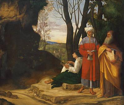 Giorgione Painting - Three Philosophers by Giorgione