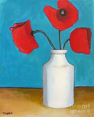 Painting - Three Poppies by Venus