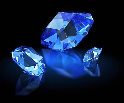 Three Sapphires Original by Tatiana Shepeleva