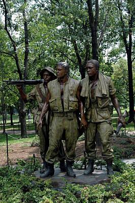 Statue Photograph - Three Soldiers by LeeAnn McLaneGoetz McLaneGoetzStudioLLCcom