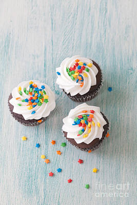 Cupcake Photograph - Three Times The Fun by Kay Pickens