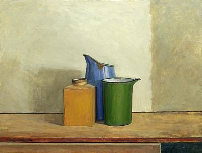 Location Painting - Three Tins Together by William Packer