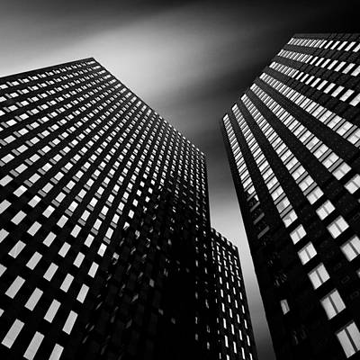 Semi Abstract Photograph - Three Towers by Dave Bowman