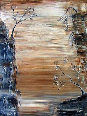 Contemplative Painting - Three Trees by Callan Percy