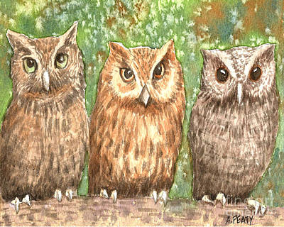 Ageless Painting - Three Wise Men by Audrey Peaty