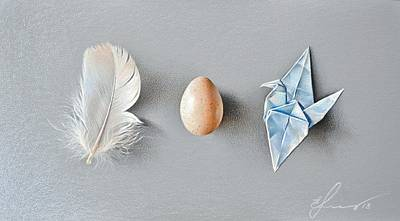 Mixed Media - Three Wonders by Elena Kolotusha