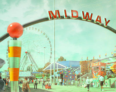 Thrills Of The Midway Print by David and Carol Kelly