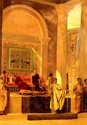 Throne Room Painting - Throne Room Of Byzantium by Benjamin Jean Joseph Constant
