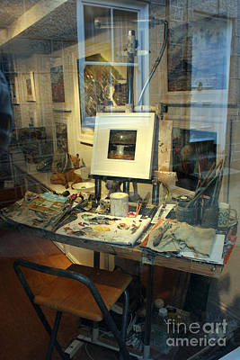 Pallet Knife Photograph - Through An Artists Window by Terri Waters