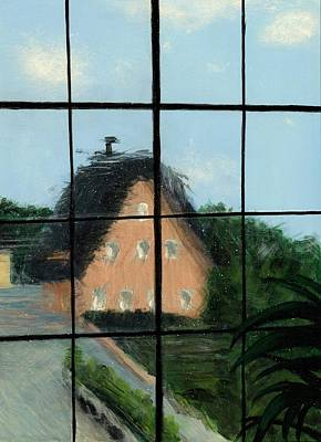 Historic Home Painting - Through An Old Glass Window by Karyn Robinson