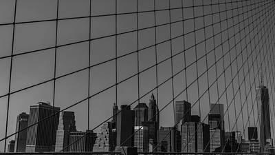 Through Brooklyn Bridge Print by Chris Fletcher