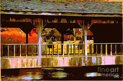 Covered Bridge Painting - Through The Covered Bridge by CHAZ Daugherty