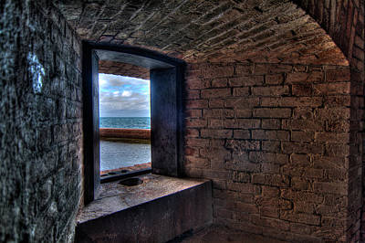 Through The Fort Window Print by Andres Leon