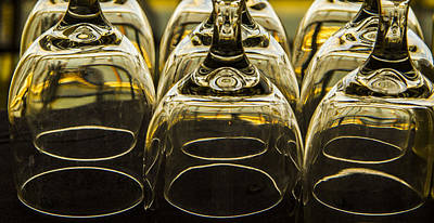Wine Service Photograph - Through The Glasses by Jean Noren