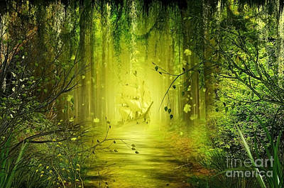 Fantasy Tree Mixed Media - Through The Jungle by Svetlana Sewell