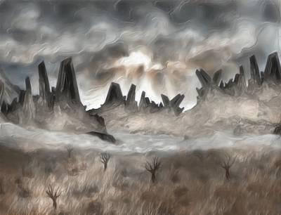 Painter Digital Art - Through The Mist by Jack Zulli