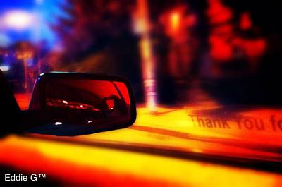 Manipulation Photograph - Through The Rearview by Eddie G