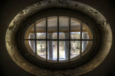 Through The Round Window Print by Nathan Wright