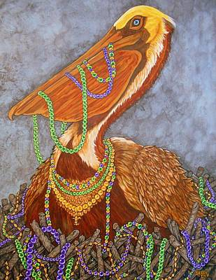 Mardi Gras Painting - Gimme More by Sherry Dole