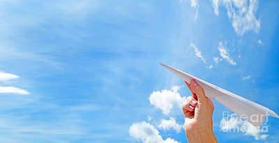 Air Photograph - Throwing A Paper Plane In The Sky by Michal Bednarek