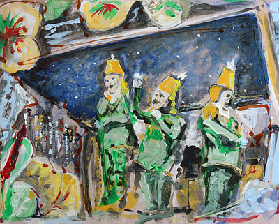 Mardi Gras Painting - Throws For Hire by Robert Sutton