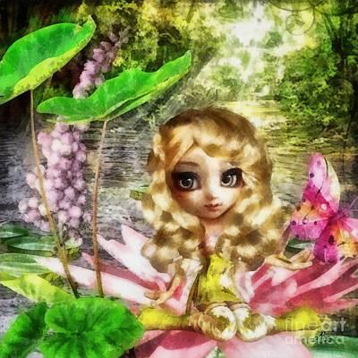 Eyes Mixed Media - Thumbelina by Mo T
