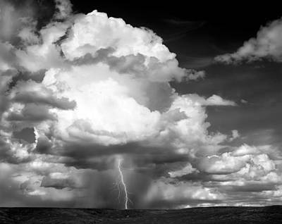 Thunder And Lightning Print by Leland D Howard