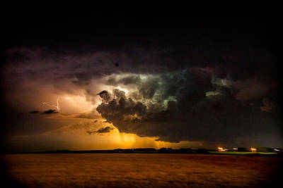 Storm Photograph - Thunder And Lightning Part 1 by Misty Hester