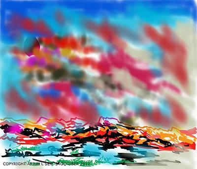Digital Painting - Thunder by Arjun L Sen
