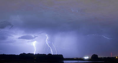 Thunder Photograph - Thunder Rolls And The Lightnin Strikes  by James BO  Insogna