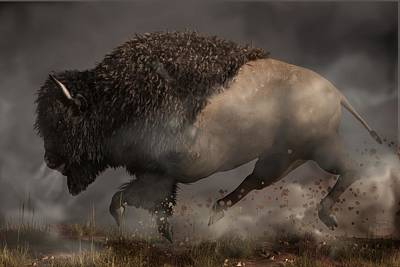 Bison Digital Art - Thunderbeast by Daniel Eskridge
