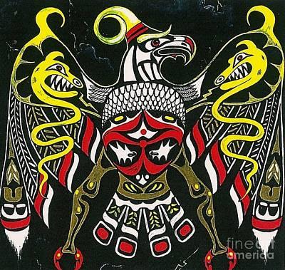 Native American Symbols Painting - Thunderbird by Margaryta Yermolayeva
