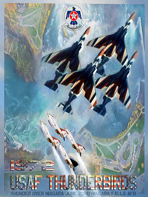Thunderbirds Poster  Print by Peter Chilelli
