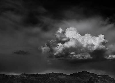 Thunderhead Over Superstition Mountain Print by Jesse Castellano
