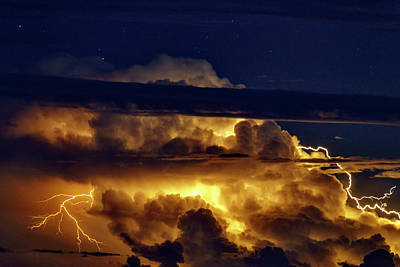 Thunderstorm From Haleakala Print by Babak Tafreshi