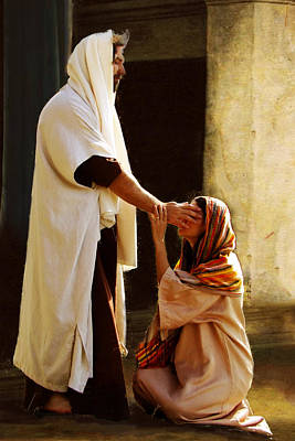Forgiveness Painting - Healing The Blind by Marcia Johnson