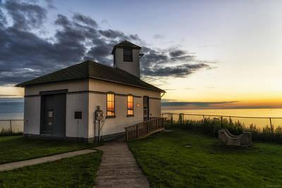 Horizontal Photograph - Tibbetts Point Fog Horn Building by Mark Papke