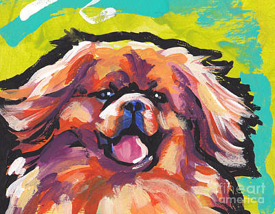 Tibetan Spaniel Painting - Tibbie Top by Lea S