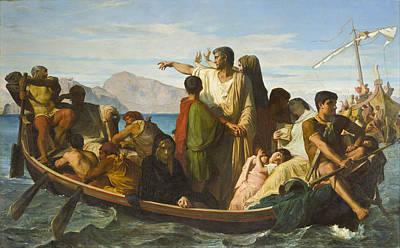 Felix Joseph Barrias Painting - Tiberius Exiles by Felix Joseph Barrias
